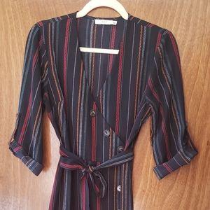 Lush Midi Dress with stripes